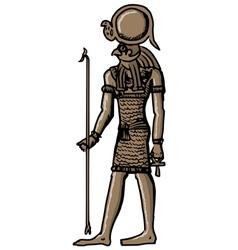 Horus - god of ancient egypt vector