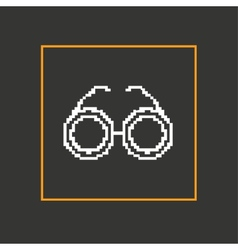 Simple stylish glasses pixel icon design vector