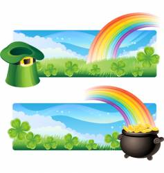 St. patrick's banners vector