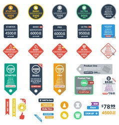 Flat pricing tables vol2 vector