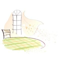 Home interior sketch vector