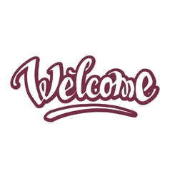 Welcome hand drawn lettering vector