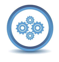 Blue mechanism icon vector