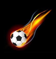 Soccer ball on fire vector
