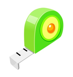 Icon tape measure vector