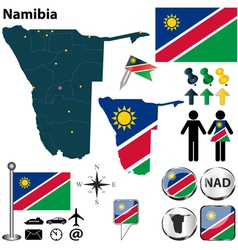 Namibia map vector