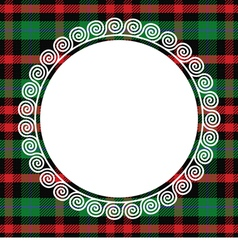 Scottish tartan with frame vector