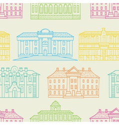 House pattern color vector
