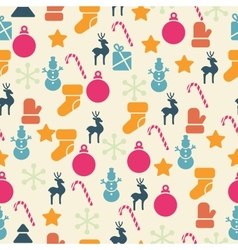 Retro christmas seamless pattern vector