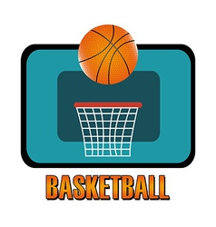 Basketball design over white background vector