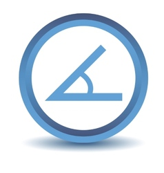 Blue sign of the angle icon vector