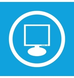 Monitor sign icon vector
