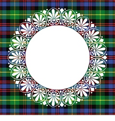 Scottish tartan black watch with frame vector