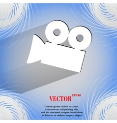 Video-camera flat modern web button on a flat vector
