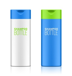 Shampoo bottle template vector