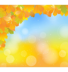 Autumn blue corner vector