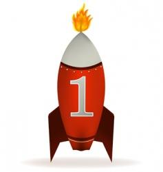 Rocket candle vector