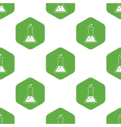 Triangle flask pattern vector