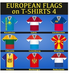 Soccer jerseys with flags vector