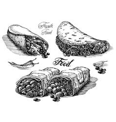 Burritos logo design template mexican vector