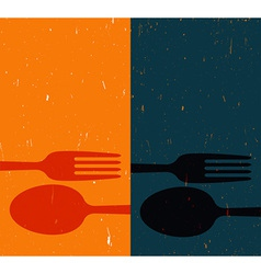 Cutlery on abstract background vector