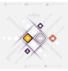 Modern infographic template with icons for vector