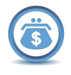 Blue dollar purse icon vector