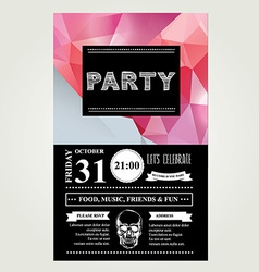 Invitation disco partytypography vector