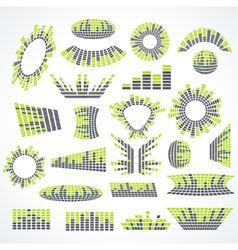 Big set music equalizer design elements vector