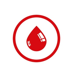 Drop of blood icon vector