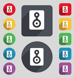 Video tape icon sign a set of 12 colored buttons vector