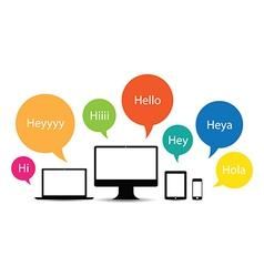 Hello technology group vector
