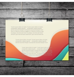 Template of a paper sheet -poster picture frame- vector
