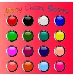 Colorful merry cheery shiny buttons vector