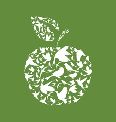 Apple a bird vector