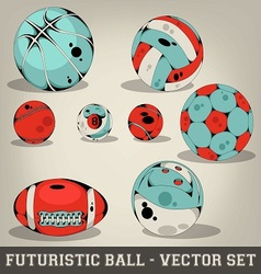 Futuristic ball set vector