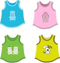 Childrens shirts vector