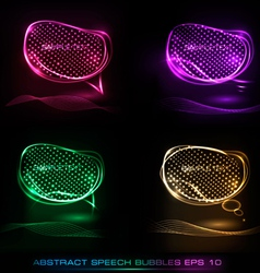 Neon speech bubble vector