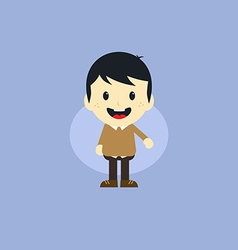 Adorable boy cartoon character vector
