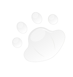 Button in pad shape vector