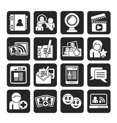 Silhouette social networking and communication vector