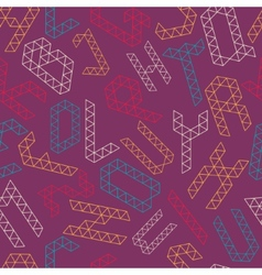 Alphabet pattern vector