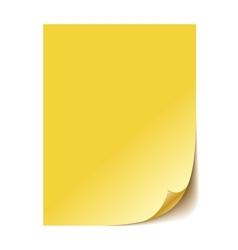 Empty yellow paper sheet eps10 vector
