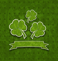Holiday background with clovers for st patricks vector