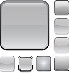 Square grey app icons vector