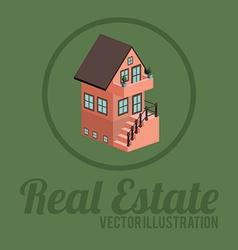 Real estate design over green background vector