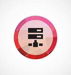 Net drive circle pink triangle background icon vector