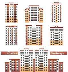 Modern buildings set vector