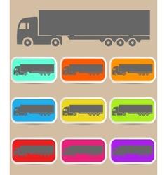 Icon trucks with refrigerator vector