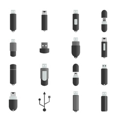 Icons flash drive vector